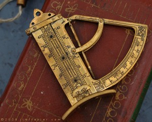 Antique measurement tool