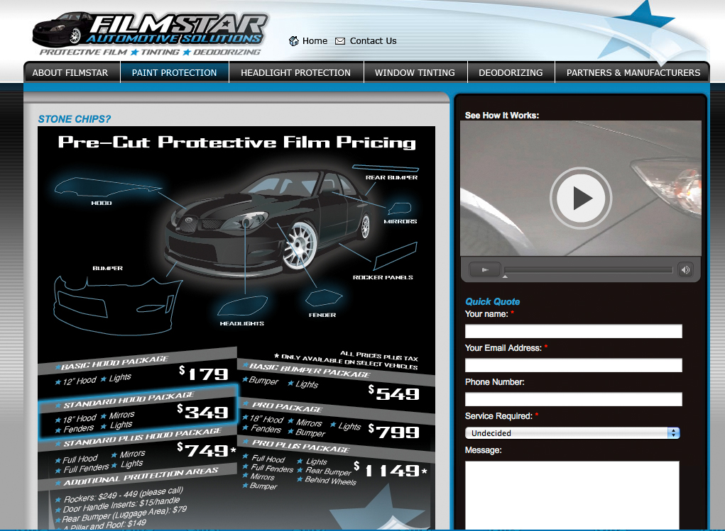 FilmStar Auto Website | Twin Creek Media