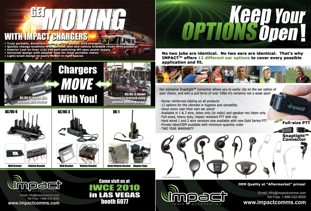 Impact Radio Accessories Print Ads | Twin Creek Media