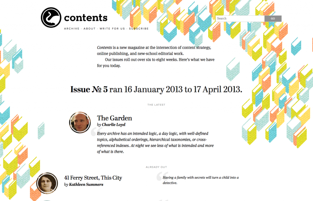 Responsive Web Design Contents Magazine Large