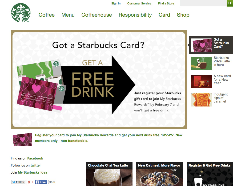 Responsive Web Design Starbucks Large