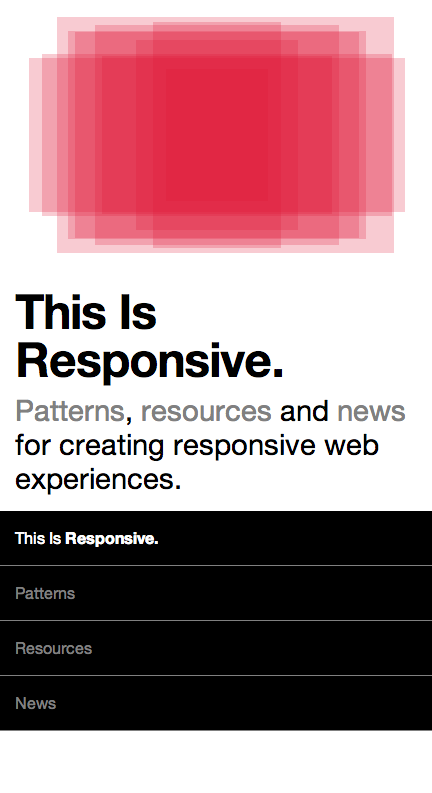 This is Responsive Web Design Small