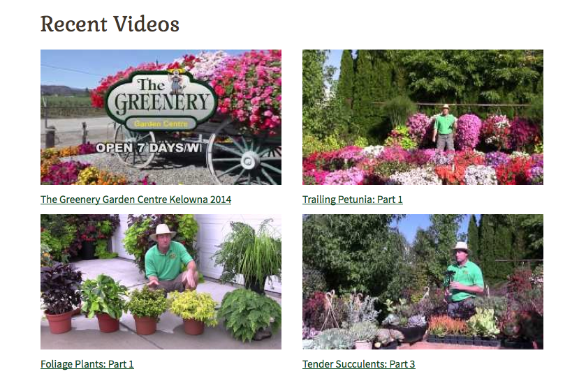 The Greenery video page